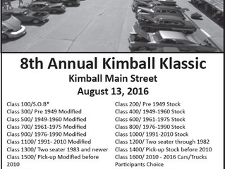 8th Annual Kimball SD Car Show