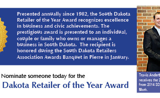 Nominations Sought for South Dakota Retailer of the Year Award
