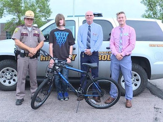 Teen walks 3 hours to work; South Dakota Highway Patrol gets him a new bike
