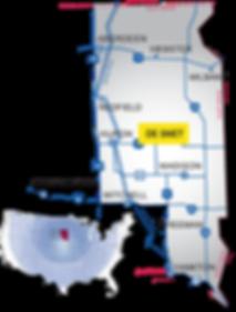 de smet south dakota map