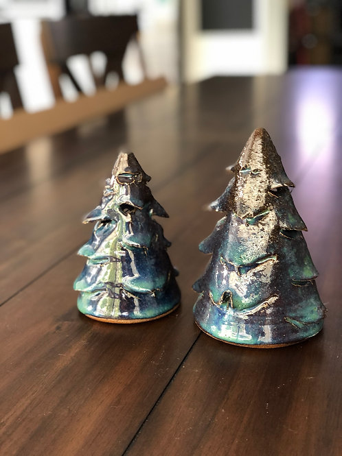 """Blue and Green Christmas Tree 5""""-6"""""""
