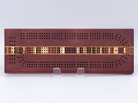 Purpleheart Beauty Cribbage Board