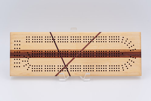 Slashed Maple Cribbage Board