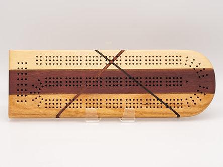 Wood Variety CrissCross Cribbage Board