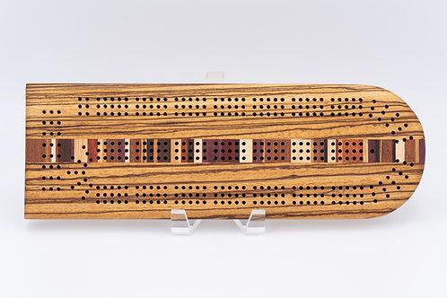 Striped Cribbage Board