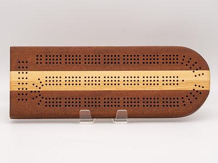 Mahogany, Oak, Maple Cribbage Board