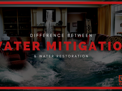 What's The Difference Between Water Mitigation And Water Restoration?