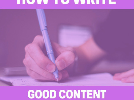 Eight Key Elements To Write Killer Content For You Website