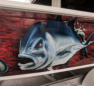 Vinyl boat wrap angry GT