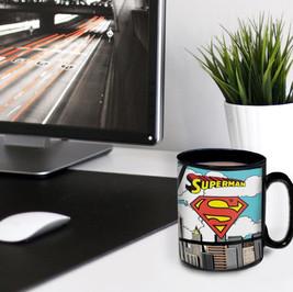 Superman Morphing Mugs® Heat-Sensitive Clue Mug