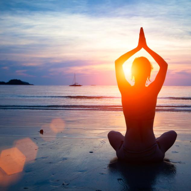 Yoga, Meditation on beach