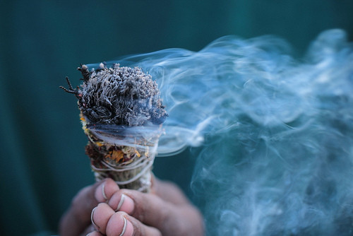 Smudge with sage, clearing