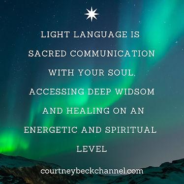 Light Language is sacred communication w