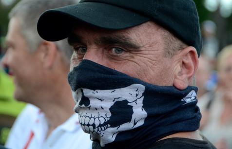 Skull mask, Sheffield EDL March 21.09.13