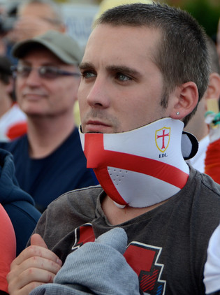 Member of the EDL, Sheffield EDL March 2