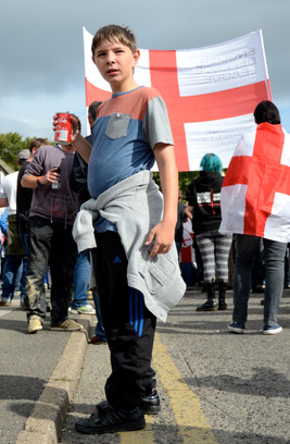 Standing with the EDL, Sheffield EDL Mar
