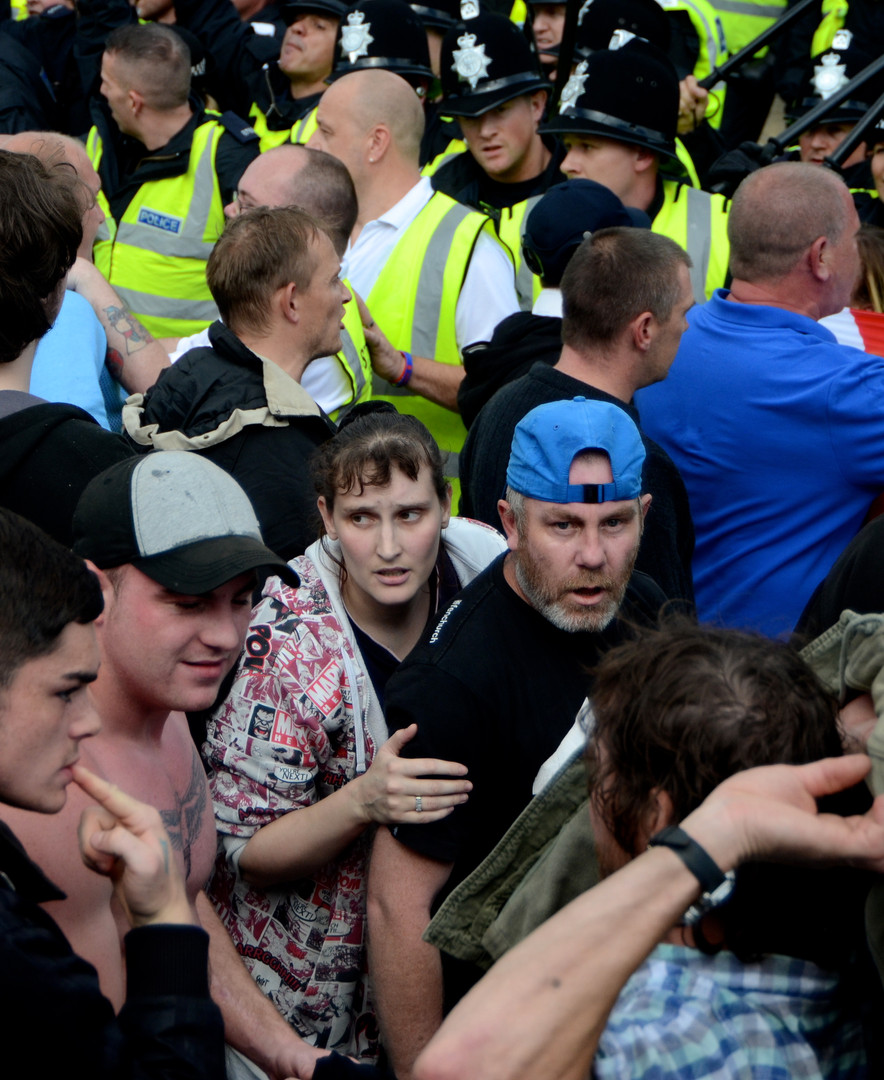 Concern at the front when a man fell und