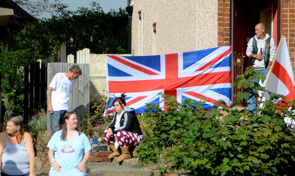 Locals sat out in the sun to watch, Shef