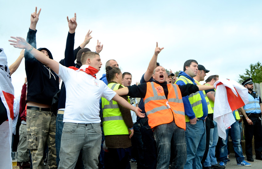 EDL members getting ready to set off, Sh