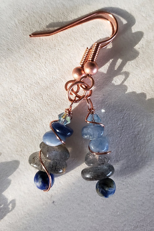 Blue Earrings B