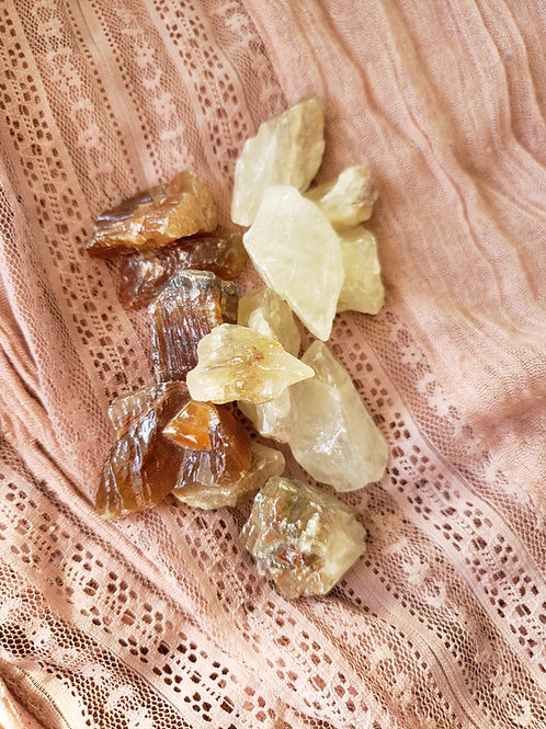 Cream and Brown Calcite