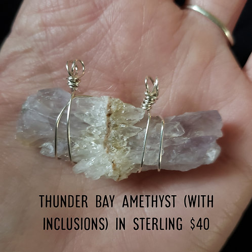 Thunder Bay Amethyst Pendant