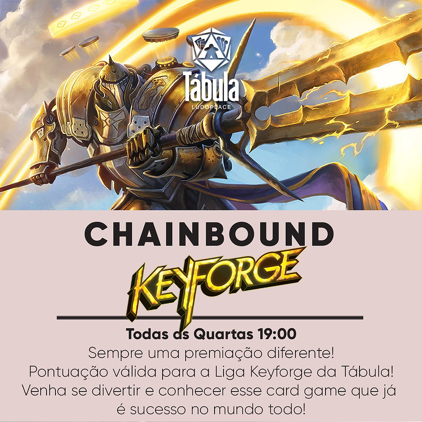 Torneio Semanal Chainbound KeyForge Tábula Ludoplace