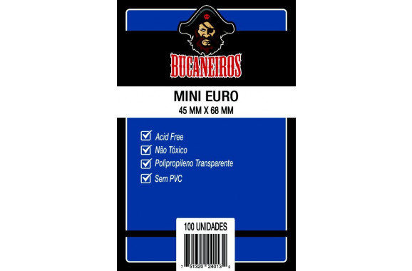 Sleeves Bucaneiros Mini euro (45 mm x 66 mm)