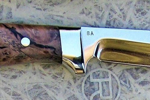 Spalted Maple Burl Knife by Brian Asher