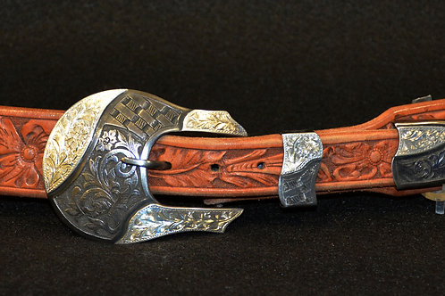 Sterling Silver 3-piece Buckle Set by Buddy Knight