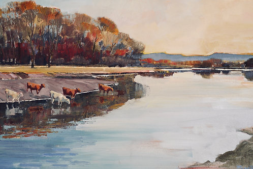 Late Afternoon at the River by Mary Baxter
