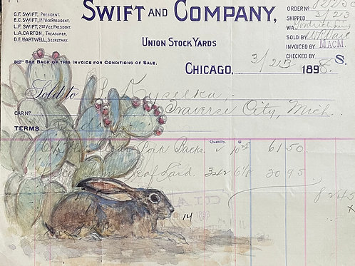 Watercolor in 1898 Ledger by Teal Blake