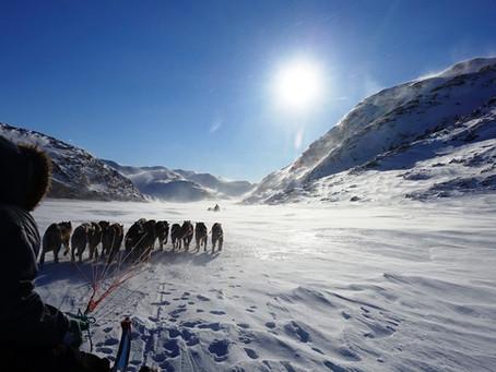 מזרח גרינלנד, מסע חורף במזחלות כלבים