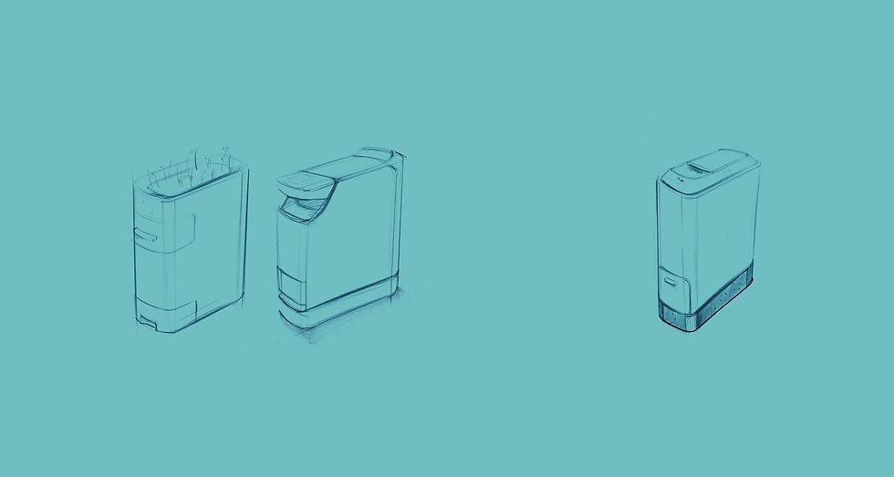 Technische Skizzen des KALEA Küchenkomposters