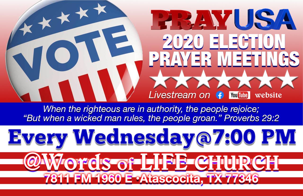 PRAY USA 2020Election Prayer Meetings