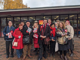 Supporters Gather At Westcliff Library Before Canvassing Westborough Ward