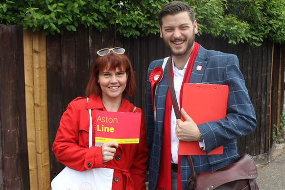 Aston Knocks Door To Door With Louise Calton, Vice-Chair Of Campaigns In Southend West