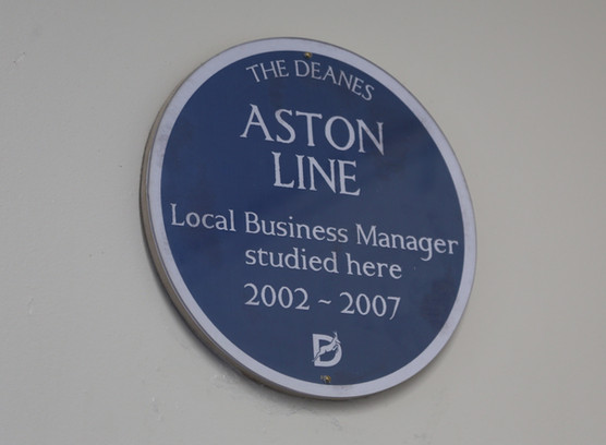 Aston Is Honoured With A Blue Plaque At His Old School, The Deanes Academy