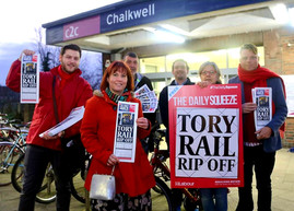 Aston And Party Members Campaign For Rail Nationalisation