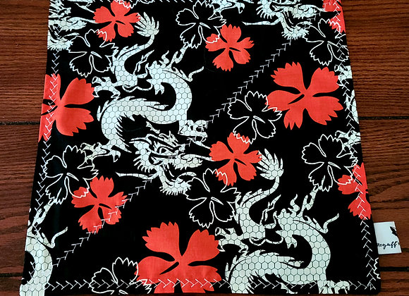 Dragons w/Hibiscus Flowers, EDC Pocket Square