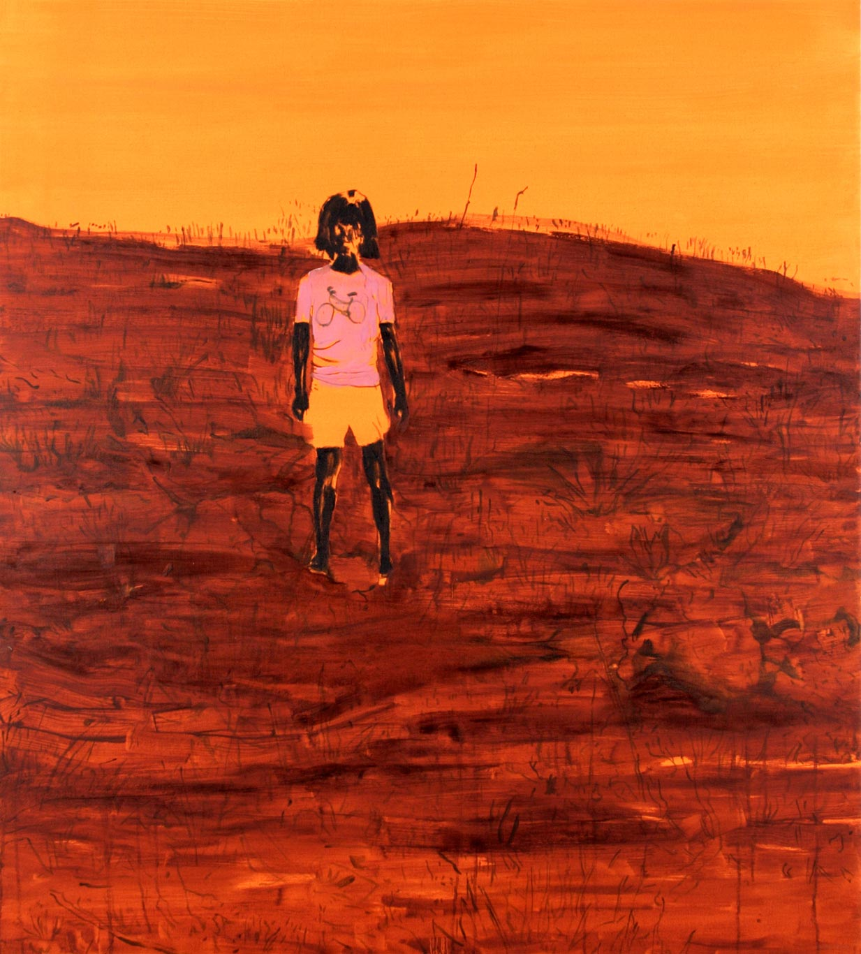Girl in orange landscape | 2006