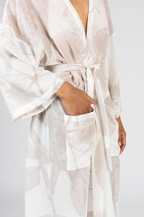 AMORPH - Kimono Long -100 % Seide