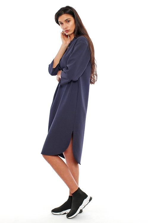 AMORPH - Tunika dress midi - Viscose/Baumwolle