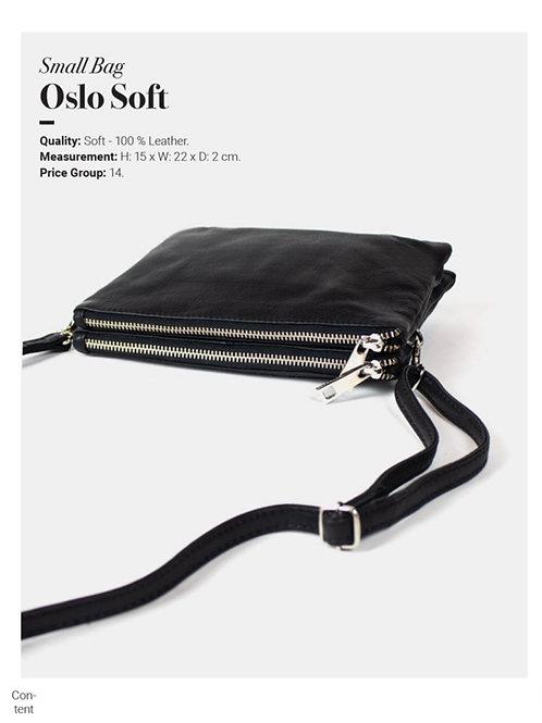 OSLO SOFT Leder Tasche klein