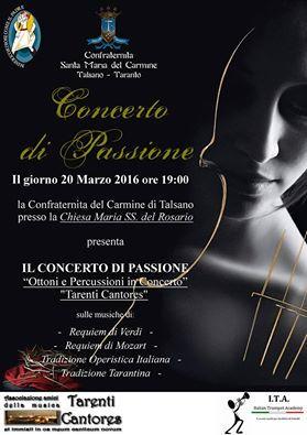 manifesto concerto di passione 2016 settimana santa talsano taranto