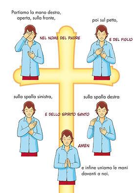 preghiera - segno della croce - confraternita carmine talsano