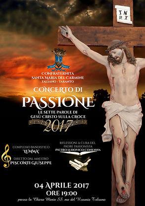 manifesto concerto di passione 2017 settimana santa talsano taranto