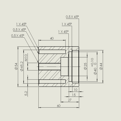3D printing mechanical parts sketch