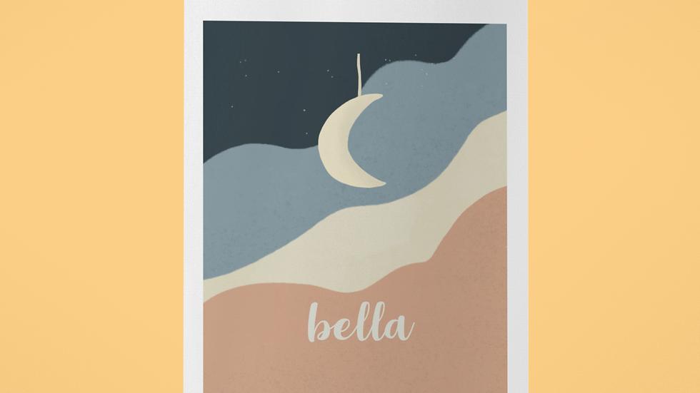 Kinder Poster Illustration Kleiner Mond
