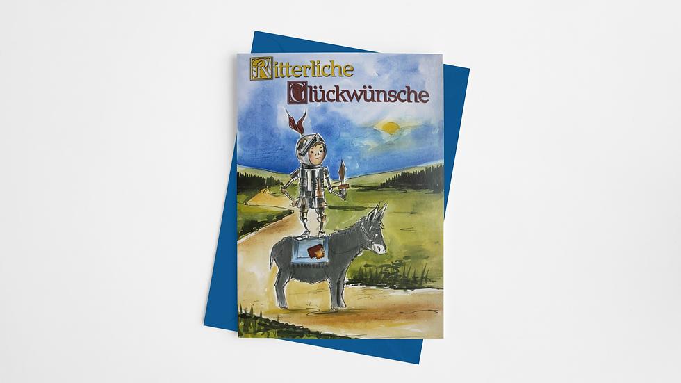 Ritter-Karte - Der kunterbunte Lesespaß
